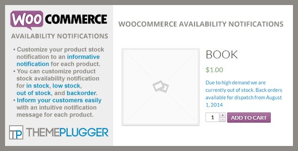Download WooCommerce Availability Notifications v1.4.2 Free / Nulled