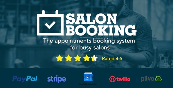 Download Salon Booking v3.4.4.6 - Wordpress Plugin Free / Nulled
