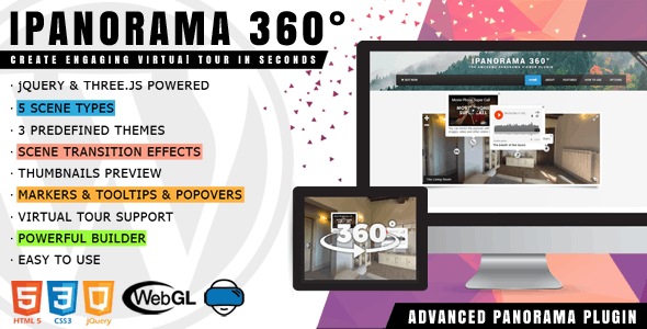 Download iPanorama 360° v1.6.5 - Virtual Tour Builder for WordPress Free / Nulled