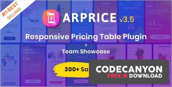 Download ARPrice v3.8.1 – WordPress Pricing Table Plugin (Nulled) Free / Nulled