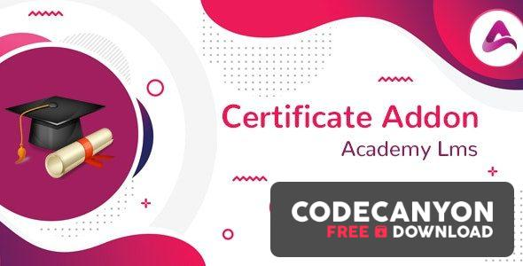 Download Academy LMS Certificate Addon v1.0 Free / Nulled