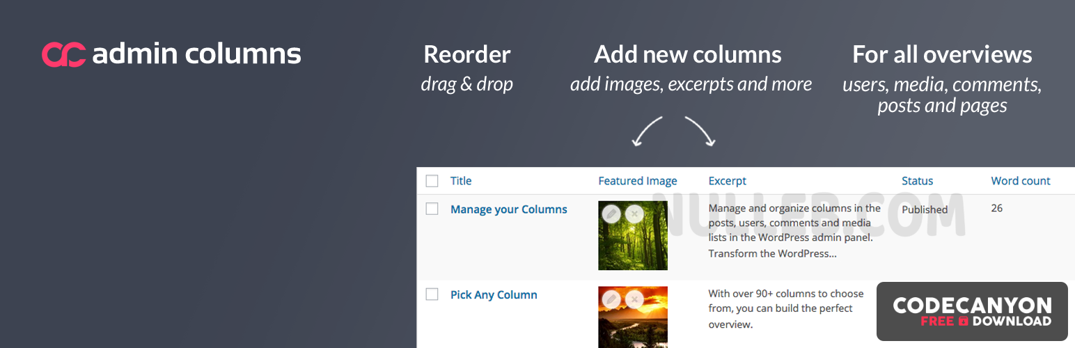 Download Admin Columns Pro v5.3.3 (+Addons) – Column Manager in The Admin Panel WordPress (Nulled) Free / Nulled
