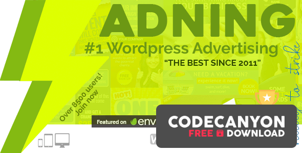 Download Adning Advertising v1.6.0 – Professional, All In One Ad Manager for WordPress (Nulled) Free / Nulled