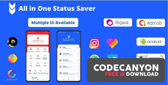 Download All in One Status Saver v9.0 – Likee, Whatsapp, FB, Instagram, TikTok, Twitter + Admob & Facebook Ads Free / Nulled