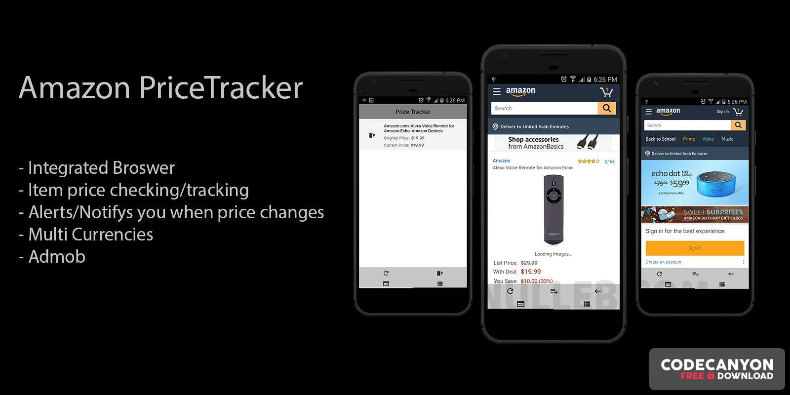 Download Amazon Price Tracker v1.0 – Android App Source Code Free / Nulled