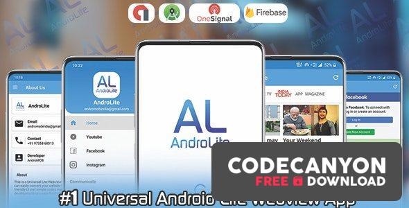 Download AndroLite v1.0 – Easy Configurable Android WebView App Template Free / Nulled