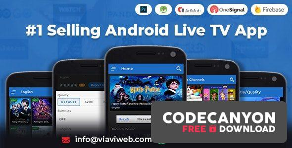 Download Android Live TV v1.3 ( TV Streaming, Movies, Web Series, TV Shows & Originals) (Nulled) Free / Nulled