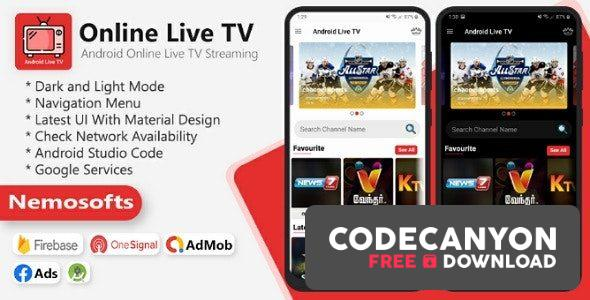Download Android Online Live TV Streaming (4 September 2020) Free / Nulled