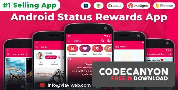 Download Android Status App With Reward Point v8.0 – (Lucky Wheel, WA Status Saver, Video, GIF, Quotes & Image) Free / Nulled