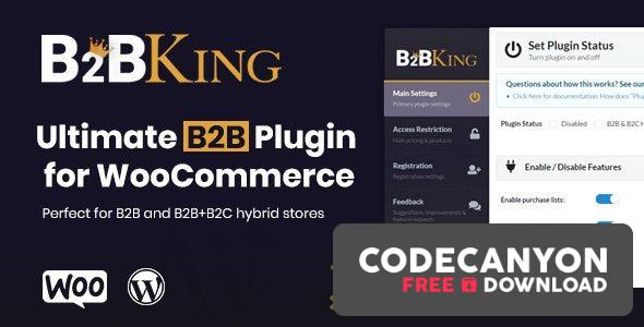 Download B2BKing v2.6.5 – The Ultimate WooCommerce B2B & Wholesale Plugin Free / Nulled