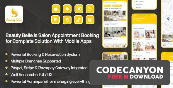 Download Beauty Belle v1.1 – Salon & Spa Appointment Booking App For Android – iOS App with admin panel (Nulled) Free / Nulled