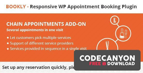 Download Bookly Chain Appointments (Add-on) v2.0 Free / Nulled