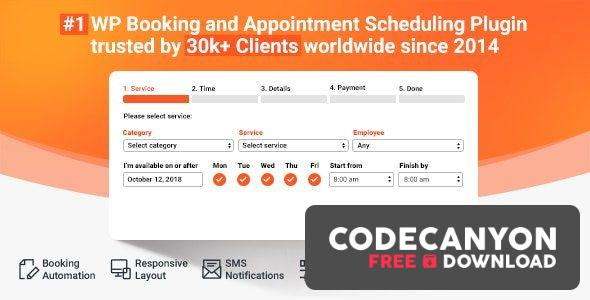 Download Bookly PRO v18.9 – Appointment Booking and Scheduling Software System (Nulled) Free / Nulled