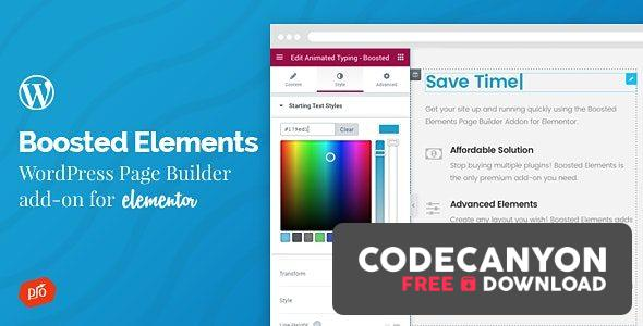 Download Boosted Elements v4.2 – WordPress Page Builder Add-on for Elementor Free / Nulled