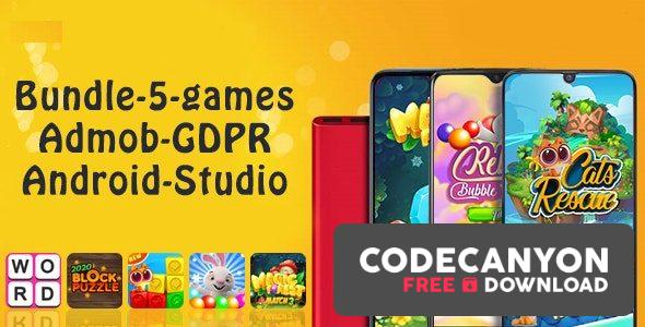 Download Bundle#1 , 5 Games (Admob + GDPR + Android Studio) Free / Nulled