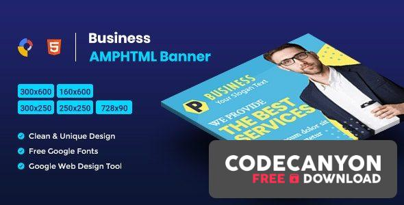 Download Business AMPHTML Banners Ads Template V04 Free / Nulled