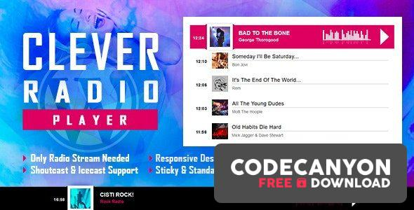 Download CLEVER v1.7 – HTML5 Radio Player With History – Shoutcast and Icecast – WordPress Plugin Free / Nulled
