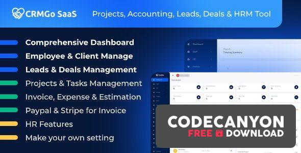 Download CRMGo SaaS v2.3.0 – Projects, Accounting, Leads, Deals & HRM Tool (Nulled) Free / Nulled