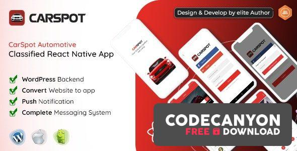 Download CarSpot – Dealership Classified React Native App v1.7 Free / Nulled