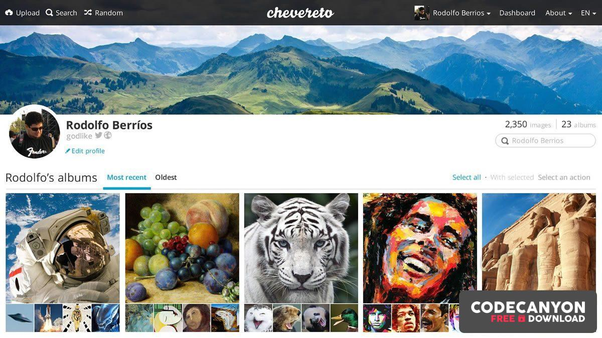 Download Chevereto v3.15.0 (Nulled) Free / Nulled