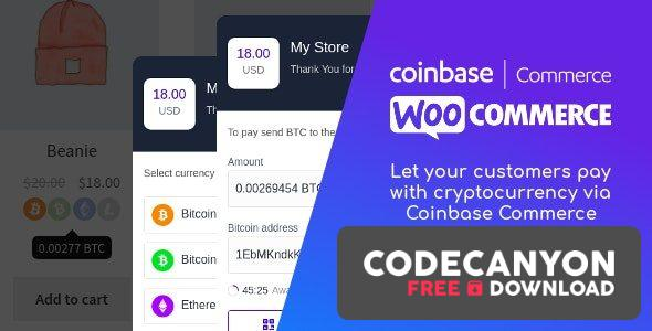 Download Coinbase Commerce for WooCommerce v1.1.2 Free / Nulled