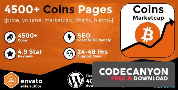 Download Coins MarketCap v4.0.2 – WordPress Cryptocurrency Plugin (Nulled) Free / Nulled