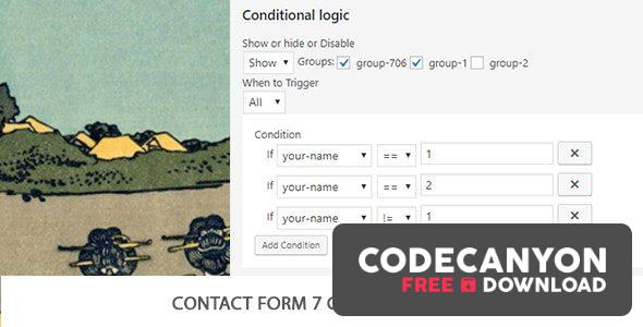 Download Contact Form 7 Conditional Logic v2.5 Free / Nulled
