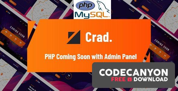 Download Crad v1.0.1 – PHP Coming Soon with Admin Panel Free / Nulled