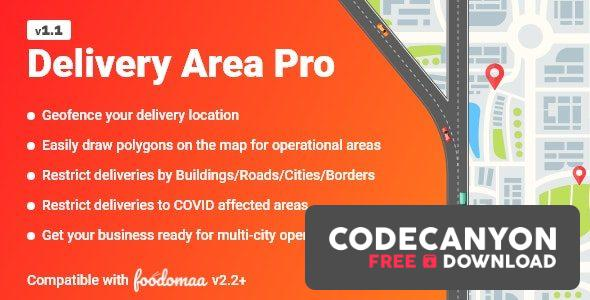 Download Delivery Area Pro Module for Foodomaa v1.1 Free / Nulled