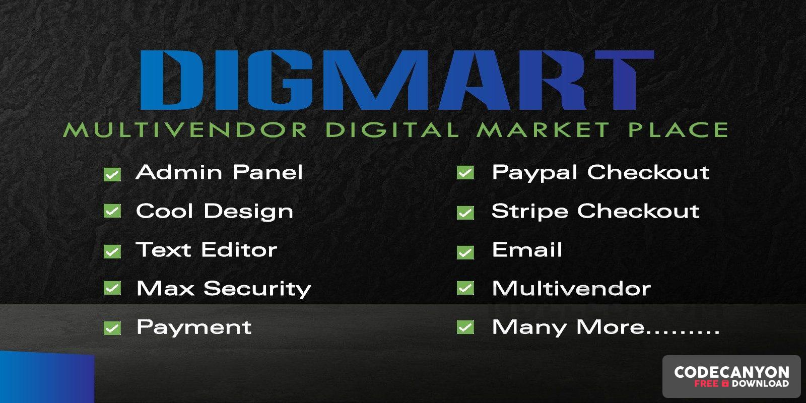 Download DigMart v3.7.0 – Multivendor Digital MarketPlace PHP Free / Nulled