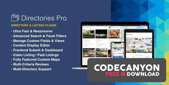 Download Directories Pro plugin for WordPress v1.3.50 (Nulled) Free / Nulled