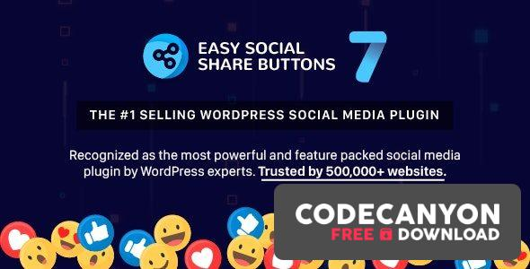 Download Easy Social Share Buttons for WordPress v7.7 (Nulled) Free / Nulled
