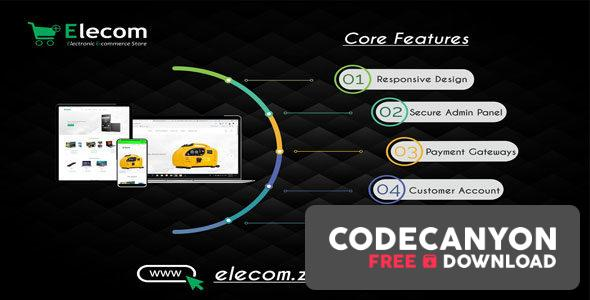 Download Elecom v1.0 – Electronic E-commerce Store PHP Script Free / Nulled