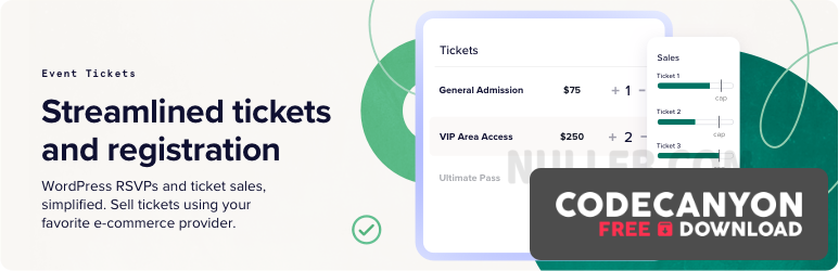 Download Event Tickets Plus 5.1.1 – The Events Calendar Pro Addon Free / Nulled