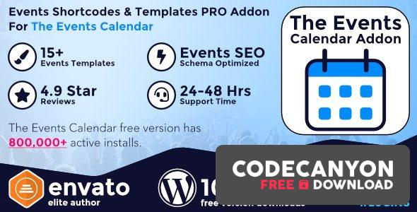 Download Events Shortcodes & Templates Pro Addon For The Events Calendar v2.5 Free / Nulled
