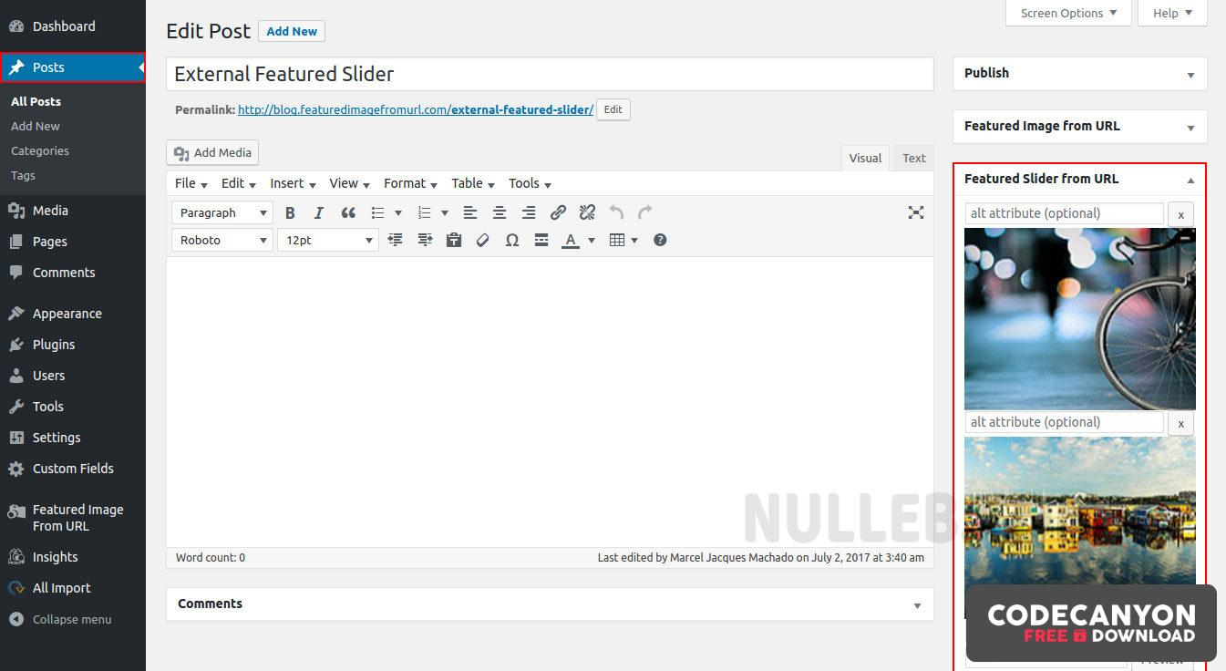 Download Featured Image from URL Premium v4.8.7 Free / Nulled