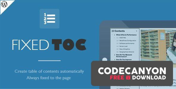 Download Fixed TOC v3.1.19 – table of contents for WordPress plugin Free / Nulled