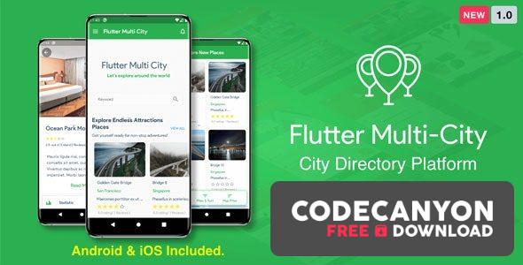 Download Flutter Multi City v1.0 ( Directory, City Tour Guide, Business Directory, Travel Guide, Booking ) Free / Nulled