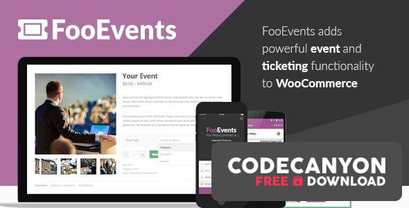 Download FooEvents for WooCommerce v1.12.7 + Addons Free / Nulled