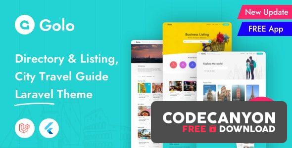 Download Golo v1.4.0 – Directory & Listing, City Travel Guide Laravel Theme Free / Nulled