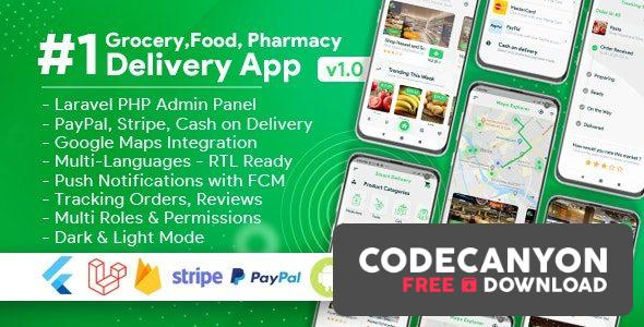 Download Grocery, Food, Pharmacy, Store Delivery Mobile App with Admin Panel v1.8.0 (Nulled) Free / Nulled