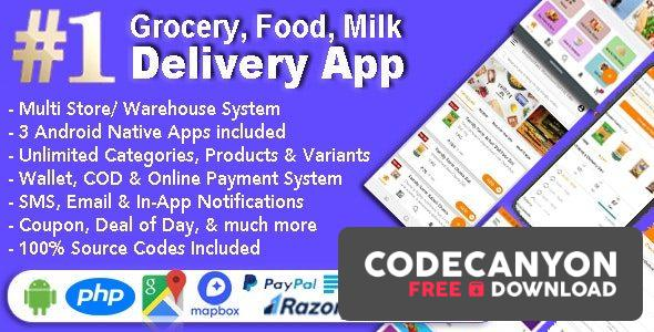 Download Grocery and Vegetable Delivery Android App with Admin Panel v1.6.7 – Multi-Store with 3 Apps (Nulled) Free / Nulled