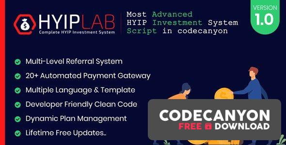 Download HYIPLAB v1.0 – Complete HYIP Investment System Free / Nulled
