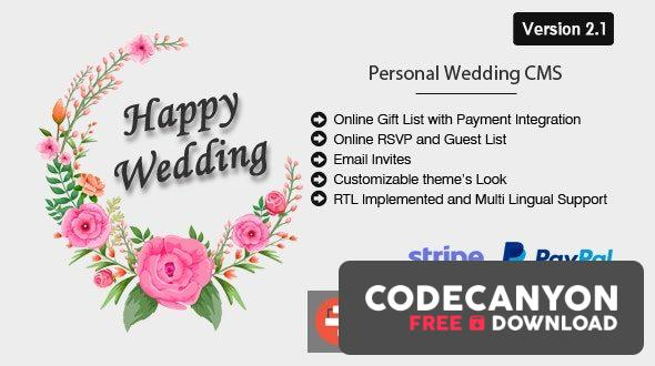 Download Happy Wedding v2.1 – Personal Wedding & Invitation CMS Free / Nulled