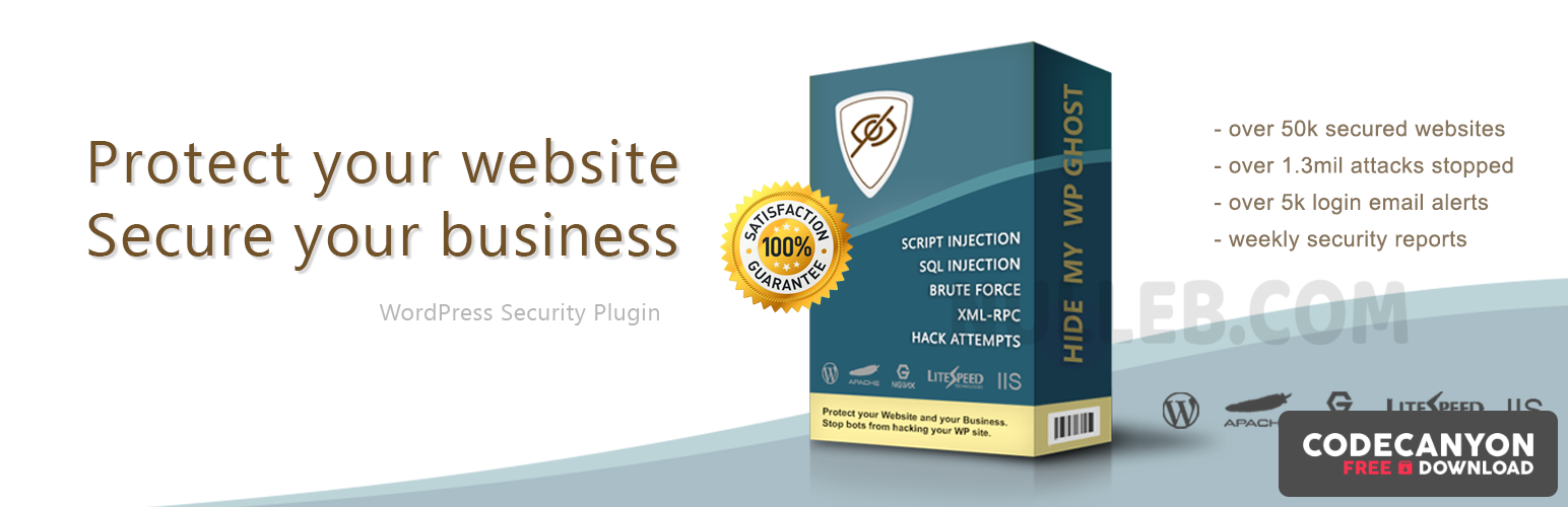 Download Hide My WP Ghost Premium v5.0.16 – Security Plugin Free / Nulled