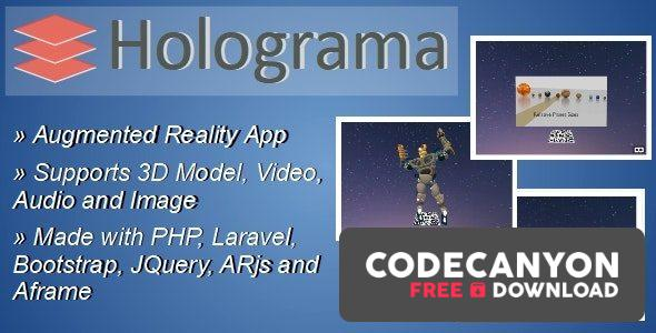 Download Holograma v2.1 – Augmented Reality Builder App Free / Nulled