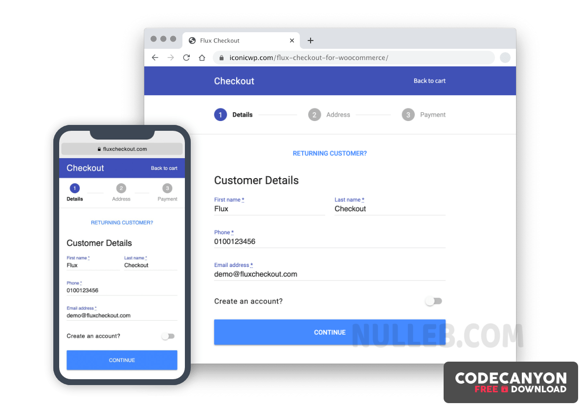 Download Iconic Flux Checkout for WooCommerce v1.2.4 (Nulled) Free / Nulled