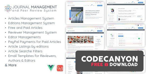 Download Journal Management and Peer Review System v1.1 Free / Nulled