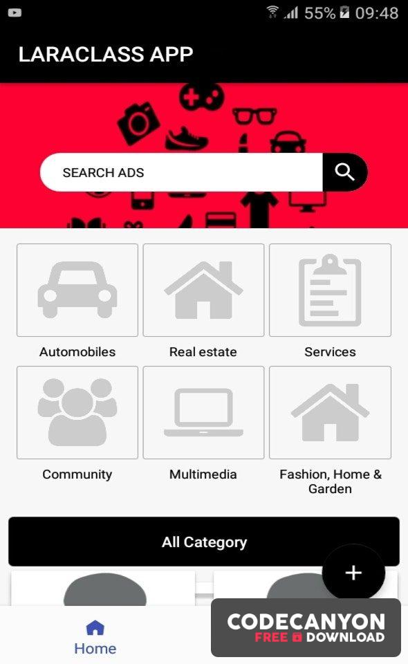 Download LaraClassApp v1.0.0 – Android Native for Laraclassified Free / Nulled