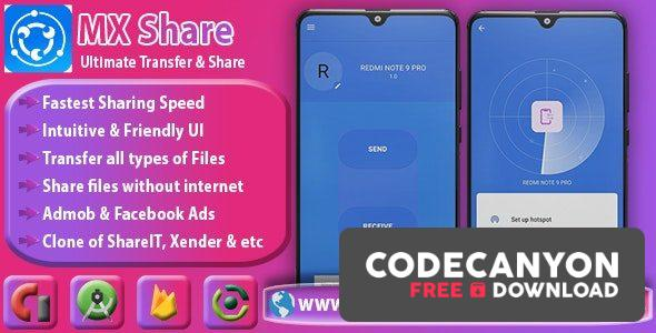 Download MXShare v1.0 – MXShare Clone | Ultimate Transfer & Share Free / Nulled